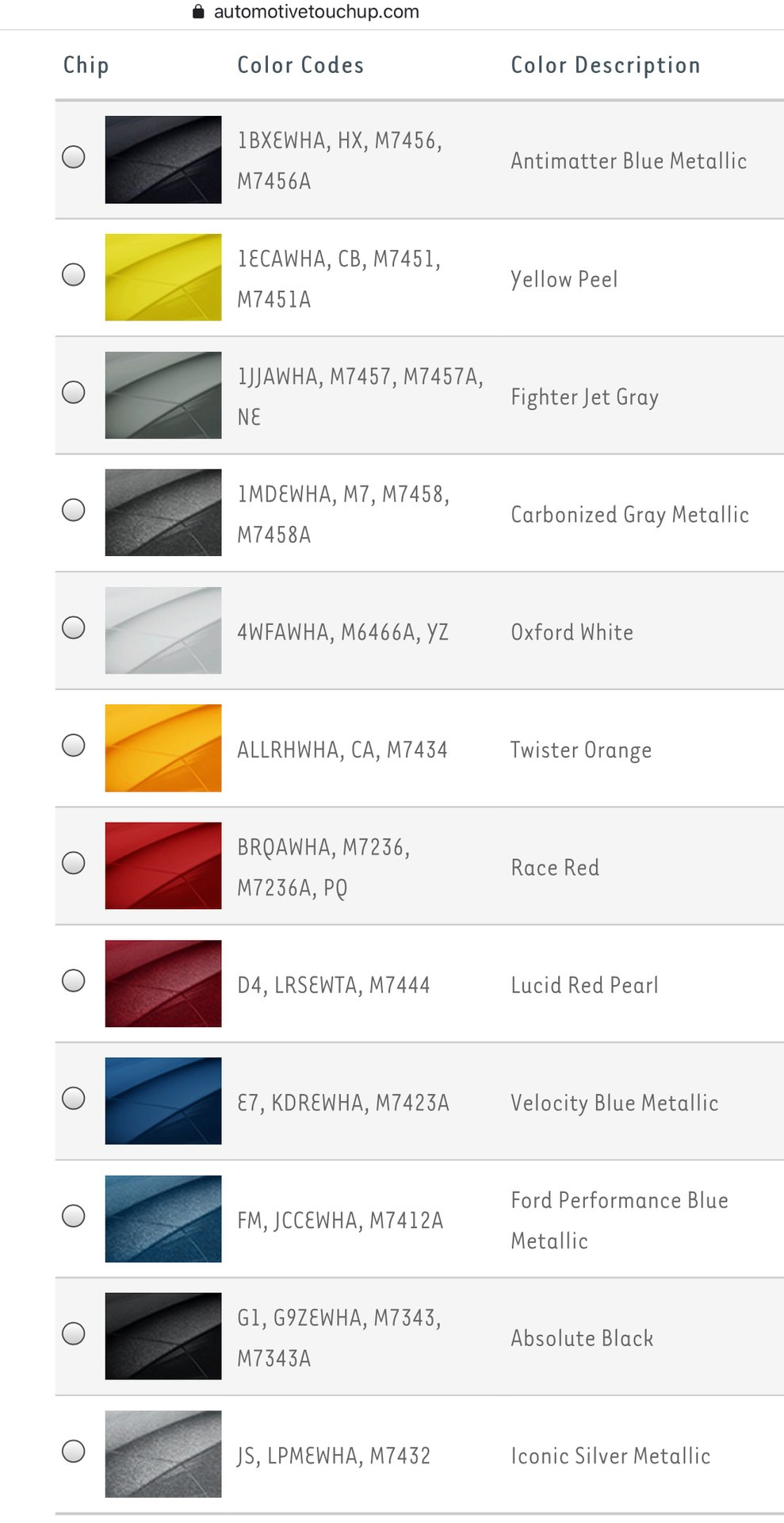 2020 2021 Ford Mustang Paint Colors Ford Shelby Gt500 Forum