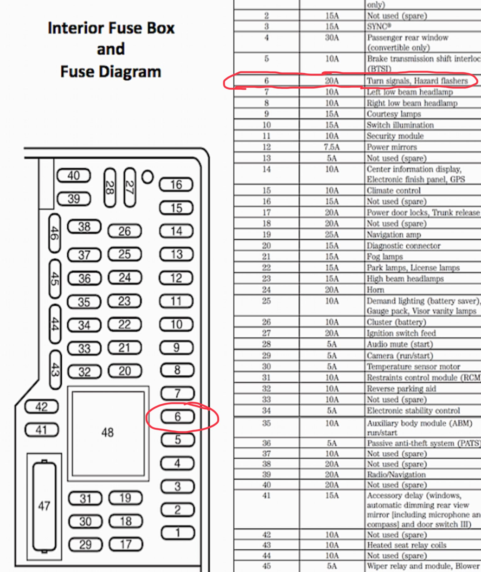 Ford Flasher Relay Wiring Diagram from www.fordgt500.com