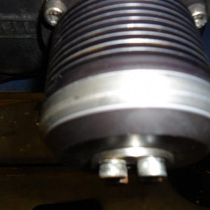 rub mark on blower pulley